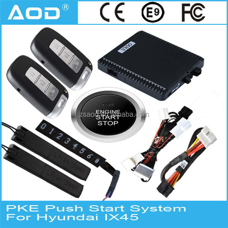 Factory price PKE car engine start button RFID keyless entry push button start for Hyundai IX45/Santa Fe 2013