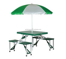 Portable Picnic Folding Table and Umbrella Combo Pack Camping table and chairs