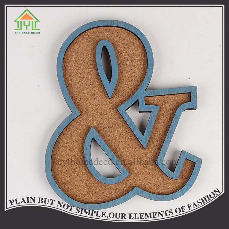 Chinese Brown Cork Wood Ornament Letter Of The Alphabet