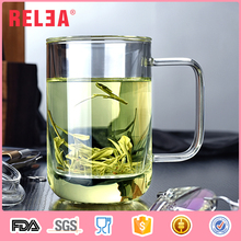 Relea hot selling single wall clear glass tea cup