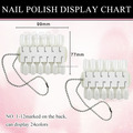 24 Color Nail polish Display chart with chain