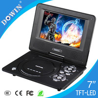 manufacture wholesale OEM nice quality warranty Factory Sale Mini 7 inch TFT Screen Portable DVD/VCD/CD Player with Low Price