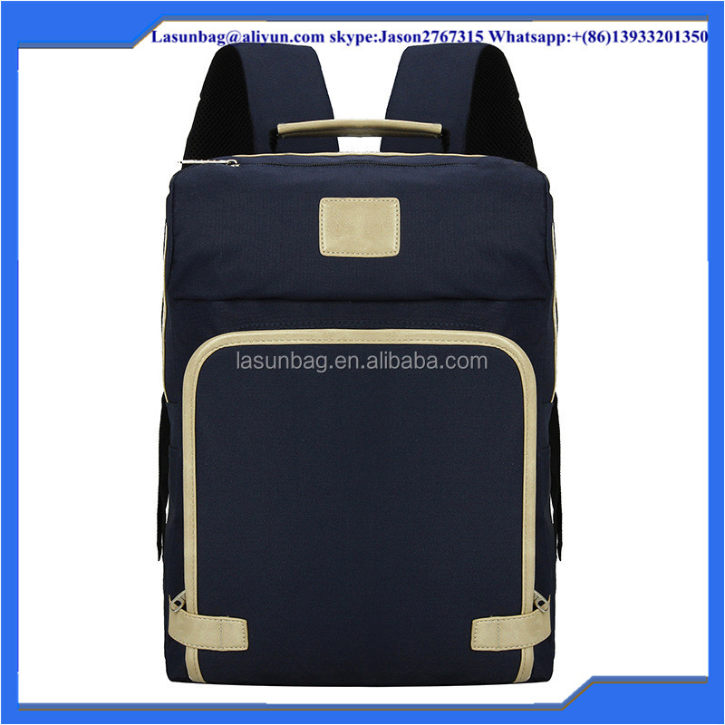 Korea Type Classic Black Canvas Backpack Mochilas School Boys Leisure backpack Book Bags