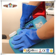 FTSAFETY Sandy finish 13g seamless liner industrial pvc glove