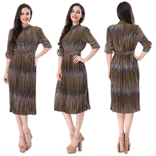 2018 Woman long sleeve vintage ladies dress