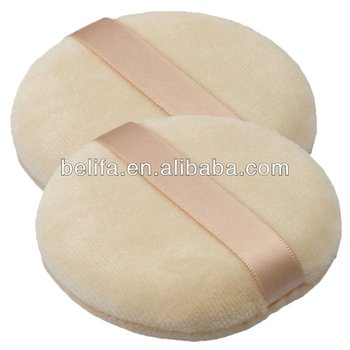 Large Round Body Face Facial Flocking powder puff cosmetic puff