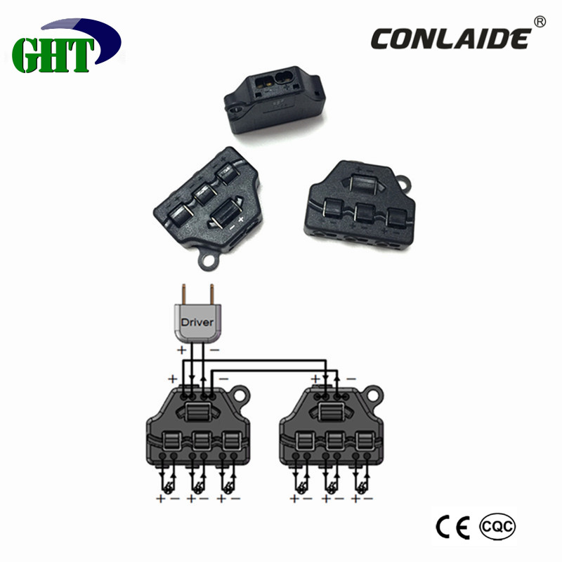 New Product 1 to 3 No Screw Connecting Cable Splitter For Electric