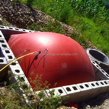 cow farm accessories red-mud membrane working model of biogas plant for small size biogas digester
