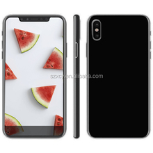 soft TPU clear transparent mobile back cover case for iPhone X