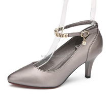 Low price high quality shoes genuine leather lady pumps shoes woman dress shoes