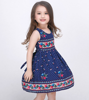 d47809a 2016 girls dress sleeveless kids dress flower baby dresses