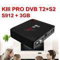 2018 The best powerful with Android TV S912 KIII Pro DVB S2 T2 C 3G 16G android tv box digital 4k satellite receiver