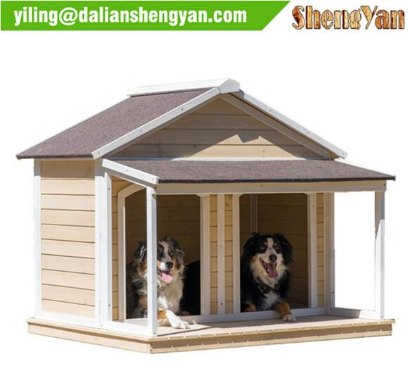 Duplex Dog House , double door dog cage .
