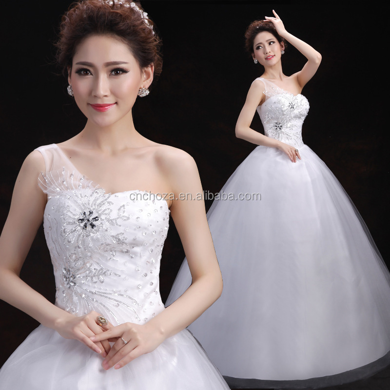 Wedding Dresses Wholesale : Wholesale bridal dress one shoulder wedding dresses buy