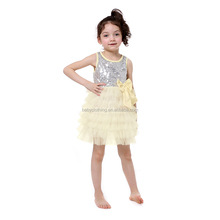 fashion dress trendy 2017 white sequin ruffle dress baby frock design pictures