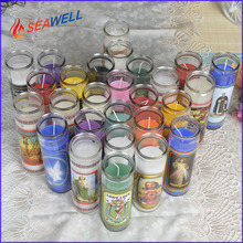 wholesale metric jar 7 days religious glass jar devotional candle in China