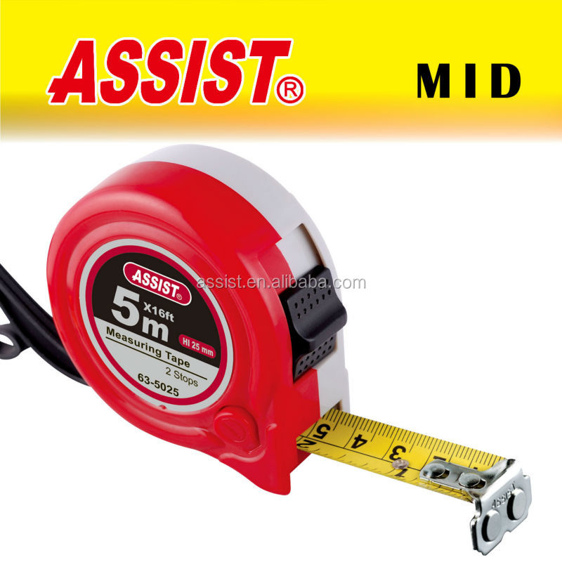 New abs case ASSIST brand measuring tape christmas packing tape freeman measuring tape