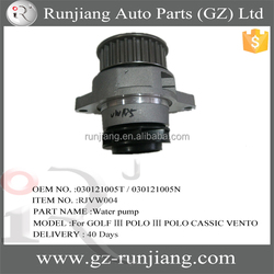 OEM NO.030121005T / 030121005N automotive engine diesel water booster pump spare parts for GOLF 3 POLO3 CASSIC VENTO CADDY