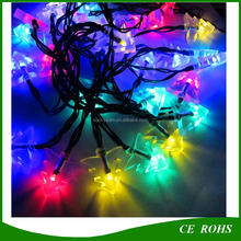 New Arrival LED Lights String Outdoor Lights Solar String 20 LEDS Christmas Tree Shaped 4 Colors Garden Landscape Lights