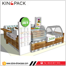 Modern retail fast food kiosk and shopping mall coffee kiosk juice bar design for sale