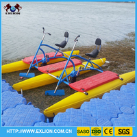 Water theme park equipment hot sale 2016 exlion water bicycle pedal boat