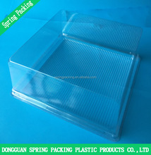 Disposable plastic cake food packaging box