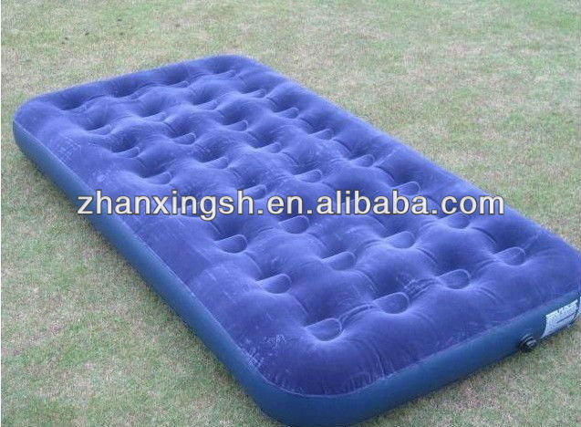 Wholesale Durable PVC Giant Cheap Inflatable Flock Bed Air Mattress For Sale