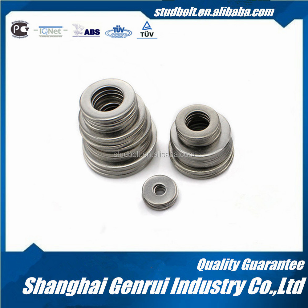 Corrosion-resistant stainless steel flat washer