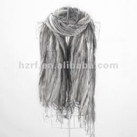 100% polyester striping fold scarf