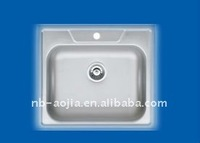 stainless steel water trough 1bowl corner sink