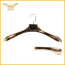 Customized logo clothes hanger gold large plastic hanger
