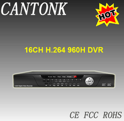 H.264 Full Real-time 960H 16 Channels DVR
