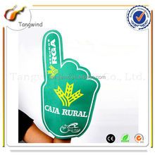 (TW12023) Eco-friendly Good Silk Print Customized Fan Cheering Foam Finger