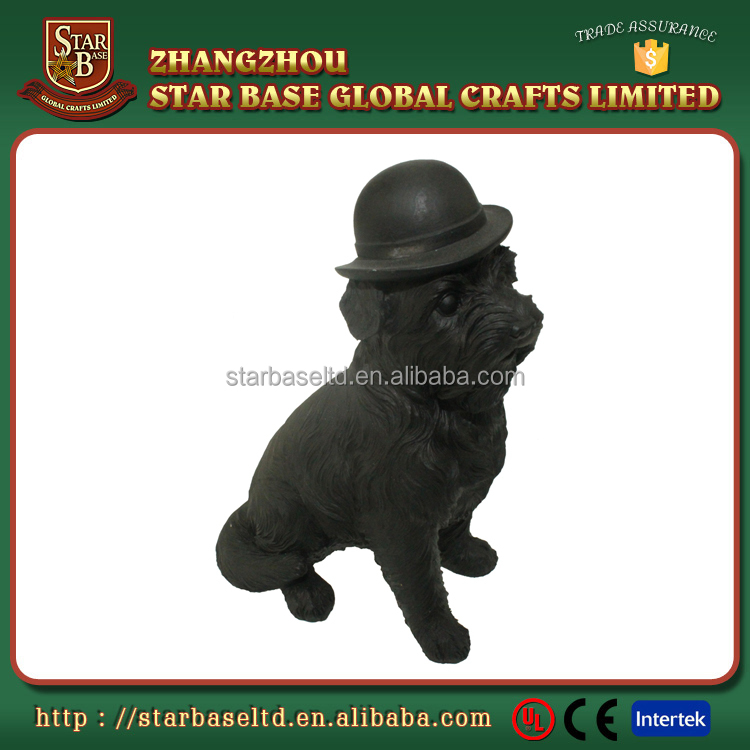 Small statues resin dog craft wholesale