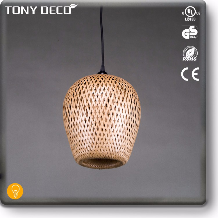 BAA65647 Wholesale Natural Bamboo Indian Garden Light Shade