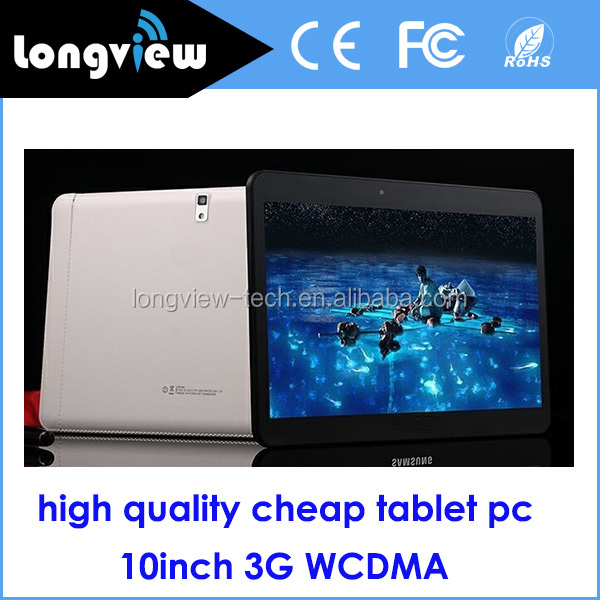 <strong>10</strong> inch cheap phone call tablet pc Android 4.4 3G WCDMA 16GB GPS FM BT WiFi all in one