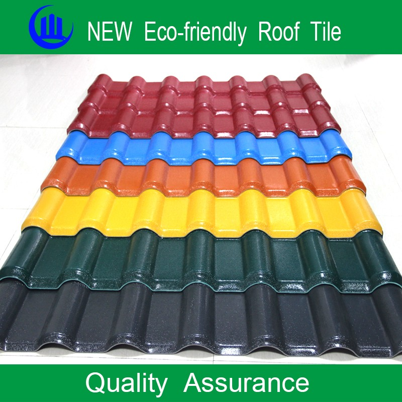 Green and environment friendly stone chip coated synthetic resin roofing tile/flat roof tiles