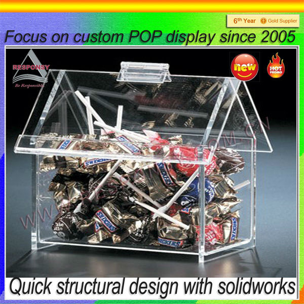 Retailers General Merchandise Mini Acrylic Candy Box Display,Clear Acrylic Box Wholesale,Acrylic Display Box
