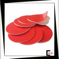 Acrylic adhesive custom shape die cut red liner pe foam tape