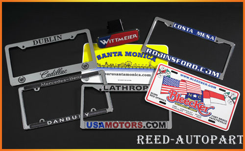 USA PLASTIC CAR LICENSE plate frame with raised logo