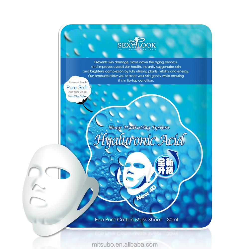 Taiwan OEM Hyaluronic Acid Collagen Crystal 4D Duo Lifting Facial Mask