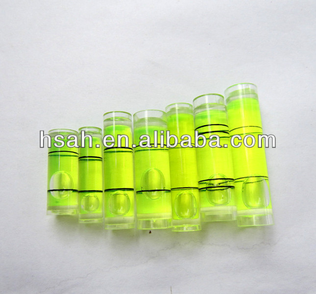 Plastic circular, square vial,Gradienter spirit level bubbles
