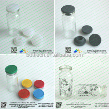 usp type I 10ml pharmacuetical injection clear glass vials with 20mm for sale
