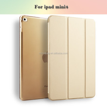 Wholesale Shockproof Flip Stand PU Leather Case Smart Cover For ipad mini 4 mini4 Shell
