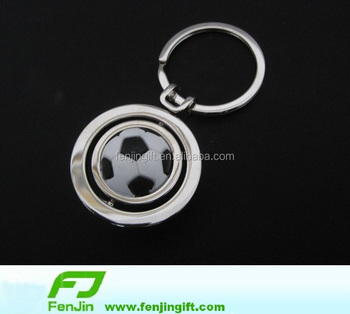 Rotating football keychain promotional items for world cup