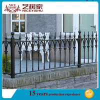 Yishujia factory Double Circle Anti-Climbing Steel Fence Garden Fence, decorative wrought iron panels