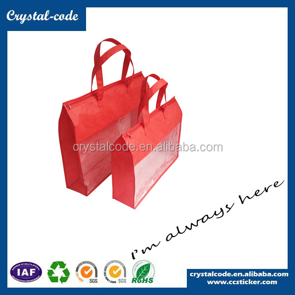 Trendy Supreme Top Quality Non Woven Shopping Bag With Zipper