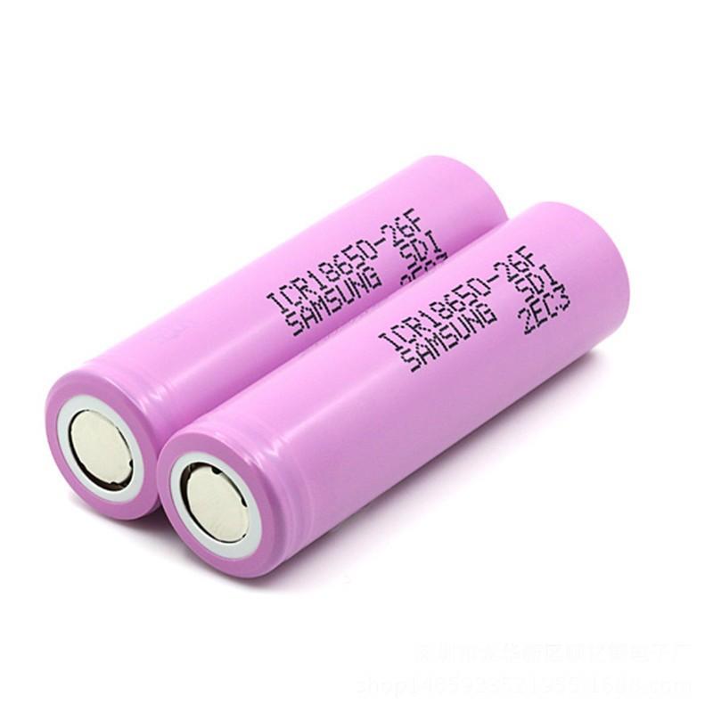 Original Samsung ICR18650-26F célula de bateria/26F 3.7 V 2600 mah da bateria/Samsung de iões de lítio 18650 célula de bateria recarregável