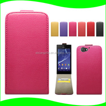 Wholesale Low Prices China Mobile Phone Shockproof Flip Leather Back Cover Case for Sony Xperia Z2 COMPACT MINI