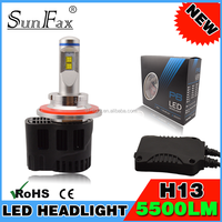 2016 hot sale !super bright!SUNFAX P6- H13 auto car LED headlight bulbs with 55W IP68 5500Lm